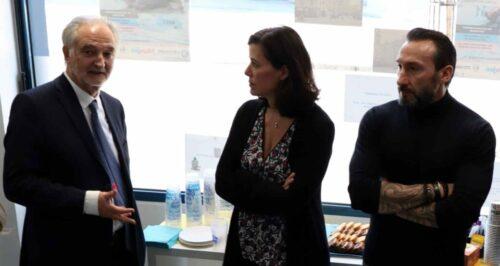 Marine Jeantet, Jacques Attali avec Hervé Tueboeuf