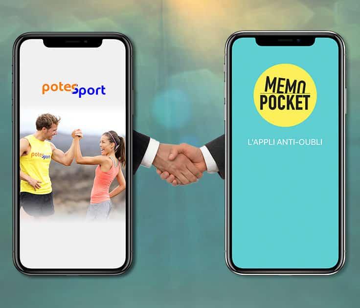 Deux smartphone se serrant la main