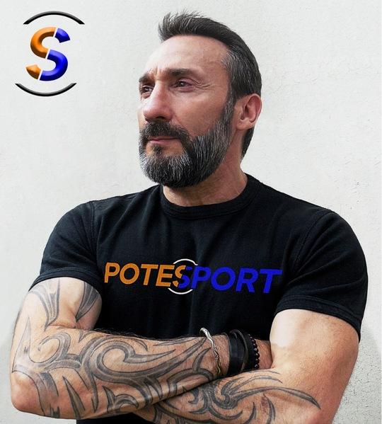 Hervé tueboeuf en tee-shirt noir Potesport