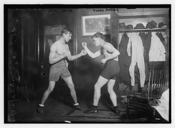 Otto Kolher en boxeur