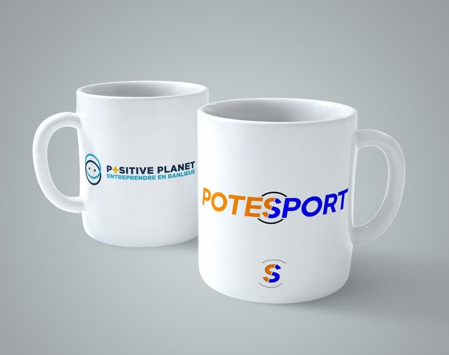 Mugs de Potesport et Positive Planet