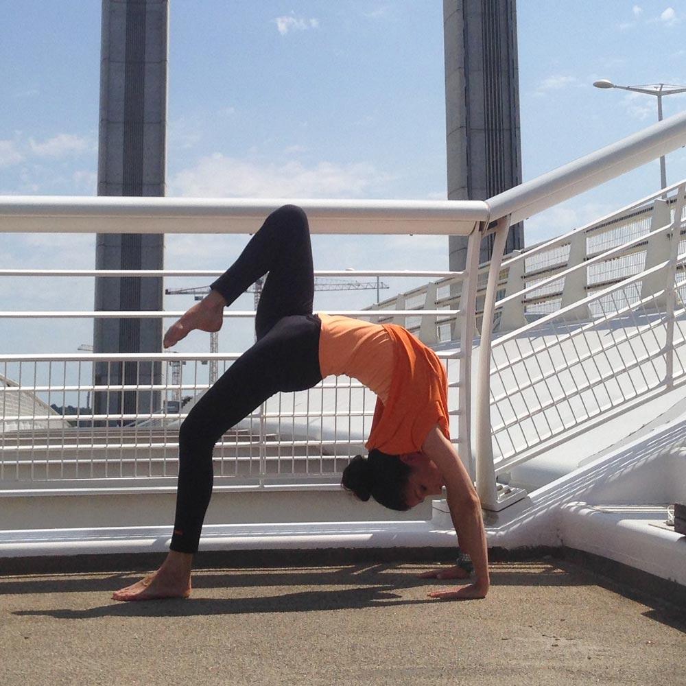 Position du pont du yoga