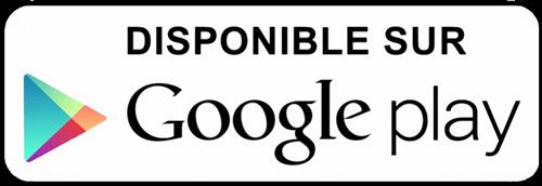 Badge Google play blanc