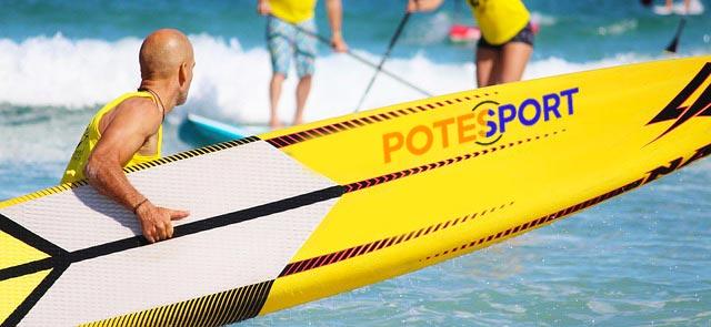Planche de Paddle jaune