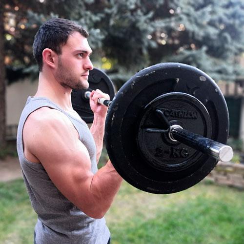 Corentin Hosy biceps curl